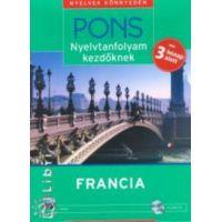PONS - Nyelvtanfolyam kezdőknek - Francia (könyv + 4 CD)