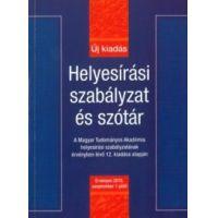 Helyesírási szabályzat és szótár