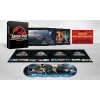 Jurassic Park 1-4. (25. évfordulós, limitált zenélő díszdoboz) (4 Blu-ray)