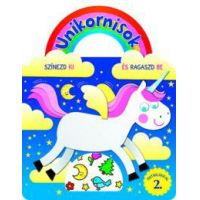 Unikornisok - Színezd ki és ragaszd be matricákkal 2.