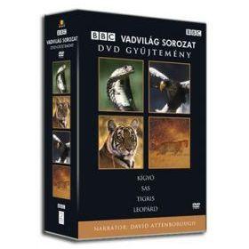 BBC Vadvilág sorozat 1. (Kígyó, Sas, Tigris, Leopárd) (4 DVD)