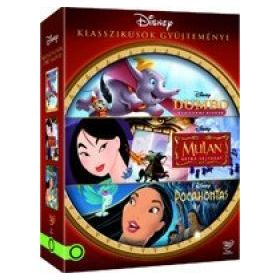 Disney klasszikusok gyűjtemény 2. *Dumbo, Mulan, Pocahontas* (3 DVD)